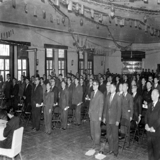 1957년 1월 17일 대한상무회 창립총회가 서울 용산 육군회관에서 열렸다. 상무회는 제대 장병들이 세운 각 단체를 통합하여 발족하게 되었다. 초대회장에는 김일환 상공부장관이 선임되었다. 원문이미지