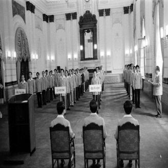 1975년 9월 22일 전국 읍, 면, 동등 각 단위 민방위대와 직장 민방위대 발대식을 가졌다. 이날 직장별로 민방위대 발대식을 갖고 지역은 시·도, 읍·면소재지 등에서 합동으로 발대식을 가졌다. 원문이미지