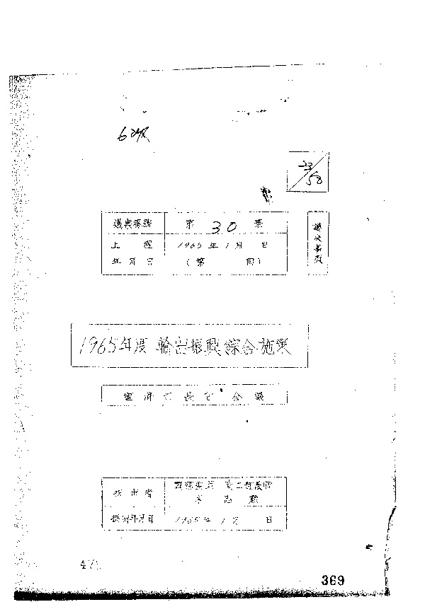 1965년도 수출진흥 종합시책