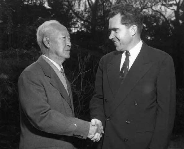이승만 대통령과 닉슨 부통령 사진