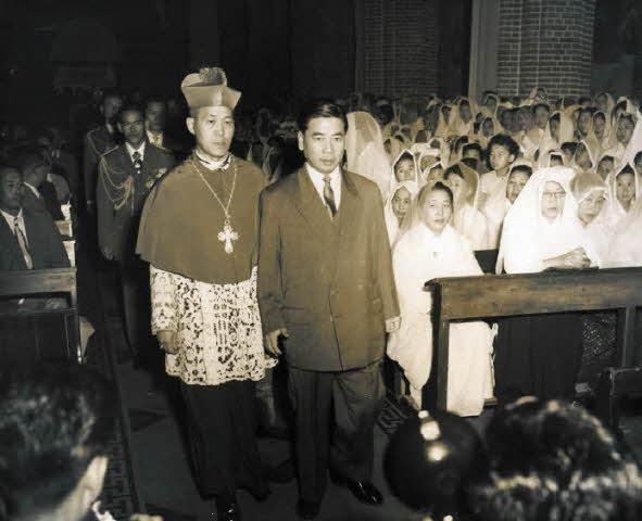 고딘 디엠 베트남 대통령 방한 사진