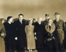 방한한 닉슨 부통령과 미국 장성들