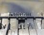 건설 중인 저수지 수문 사진