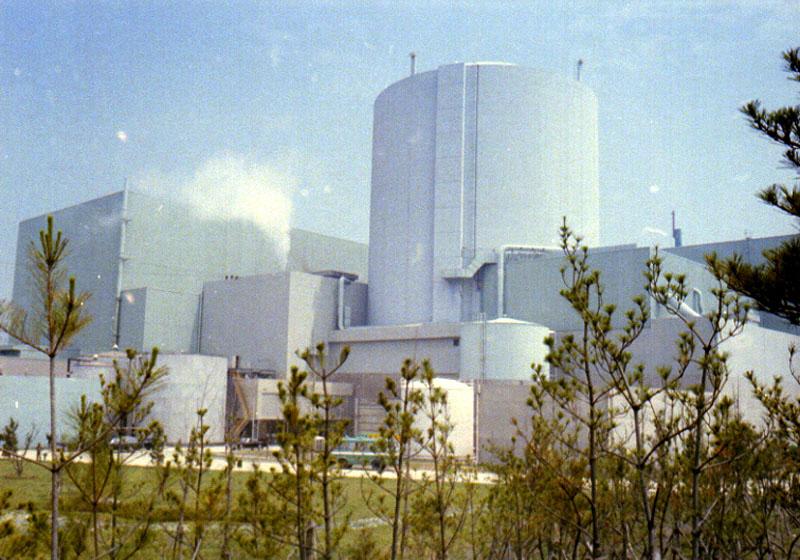 고리원자력발전소1호기 전경