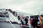 김종필국무총리 대한항공 점보젯트기 보잉747 취항식 참석