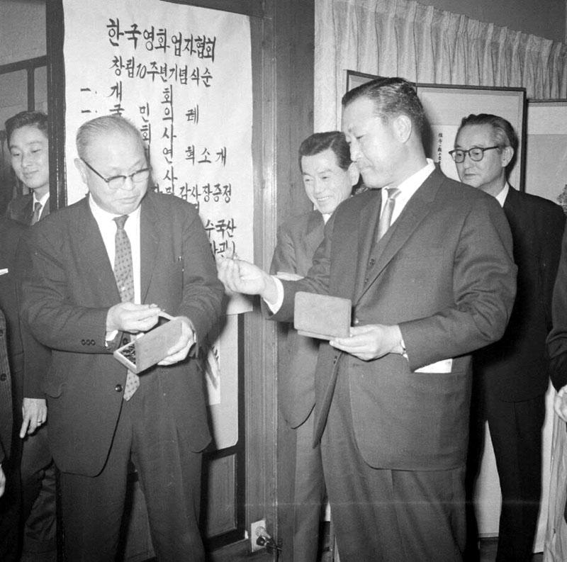 홍종철공보부장관 한국영화업자협회 창립10주년 기념식 참석