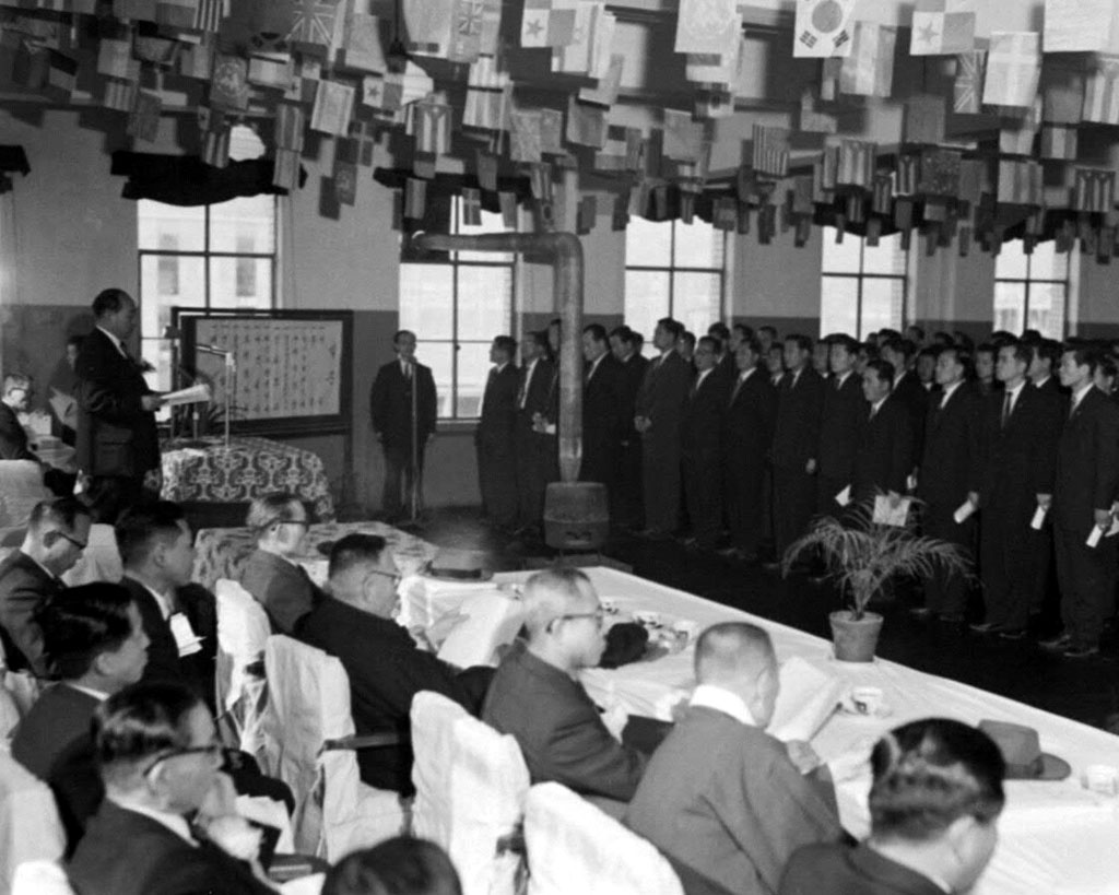 곽의영체신부장관 우편법 및 우편물운송법 공포기념식 참석